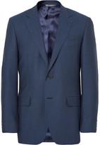 Canali Blue Slim-fit Birdseye Super 120s Wool Suit Jacket
