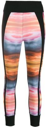 NO KA 'OI Abstract-Print Slim-Fit Leggings