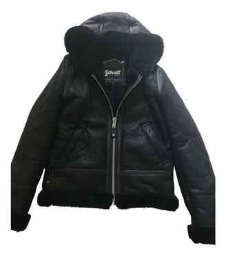 Schott Black Shearling Jackets