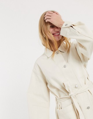 Weekday Clay worker jacket in ecru