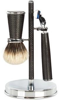 Lorenzi Milano - Carbon-fibre Shaving Set - Black
