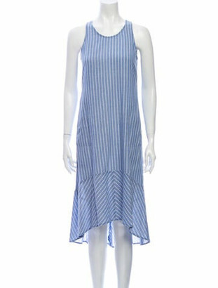 Barneys New York Striped Midi Length Dress w/ Tags Blue