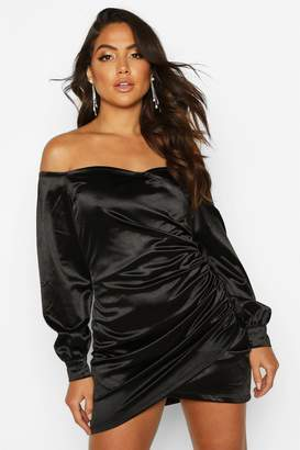 boohoo Bardot Off Shoulder Mini Dress
