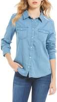 Roxy Light Of Down Embroidered Chambray Top
