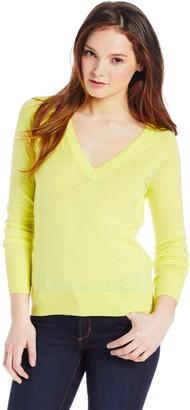 Magaschoni Women's Cotton/Cashmere V-Neck Sweater