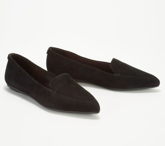Taryn Rose Suede Pointed Toe Loafers - Faye