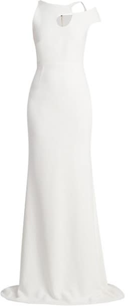 Roland Mouret Galata Asymmetrical Stretch Gown
