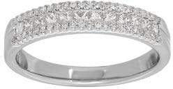 Lord & Taylor Diamond and 14K White Gold Band Ring