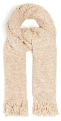 LAUREN MANOOGIAN Fringed Basketweave Scarf - Beige