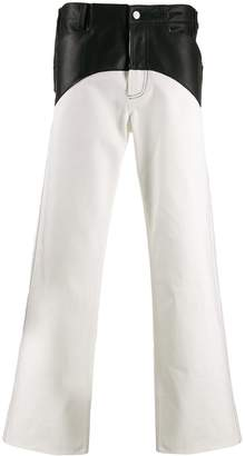 Magliano panelled wide-leg jeans