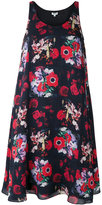 Kenzo flower print sleeveless dress - women - Silk/Polyester - 36
