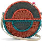 Sophie Anderson Nilsa Circle Toquilla-straw Cross-body Bag - Womens - Blue Multi