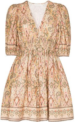 Zimmermann Freja paisley-print linen mini dress