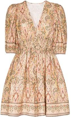 Zimmermann Freja paisley-print linen mini dress
