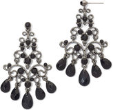 JCPenney MIXIT Mixit Hematite & Black Bead Chandelier Earrings