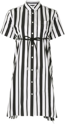 Sacai Striped Pleated Shirt Dress