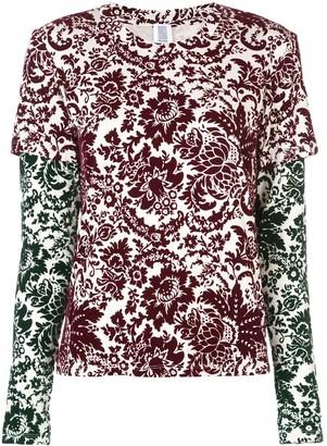 Rosie Assoulin floral print layered sweatshirt