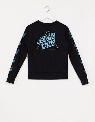 Santa Cruz Not A Dot Outline sweatshirt in black
