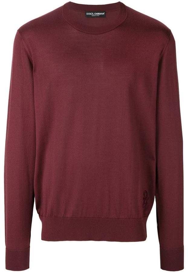 Dolce & Gabbana crew neck sweater with embroidered logo