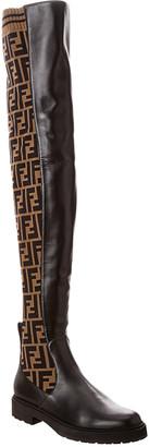 Fendi Thigh-High Leather Boot