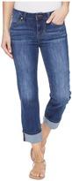 Liverpool Gwen Wide Cuff Capris Vintage Super Comfort Stretch Denim in Montauk Mid Blue Women's Jeans
