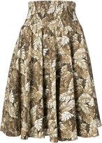Julien David leaf print skirt