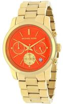 Michael Kors MK6162 Women's Runway Gold Stainless Steel Watch with Chronograph