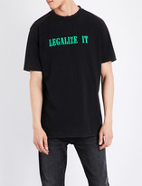 Palm Angels Legalize It cotton-jersey T-shirt