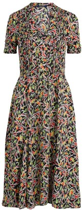Polo Ralph Lauren Grace Floral Pleated Dress