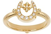 Temple St. Clair 18K Yellow Gold Pave Diamond Mini Horseshoe Ring