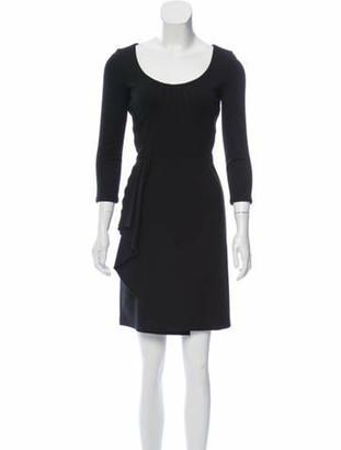 Valentino Long Sleeve Mini Dress Black