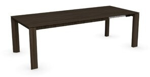 """Calligaris Omnia Butterfly Leaf Dining Table Color: Smoke, Size: 29.63"""" H x 70.88"""" L x 39.38"""" W"""
