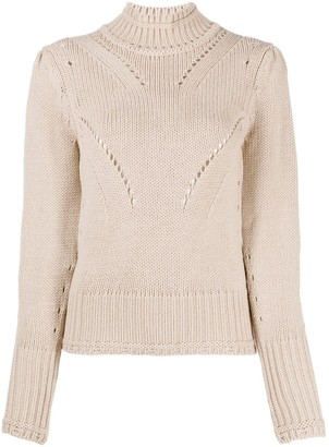 Dondup Chunky-Knit Roll-Neck Jumper