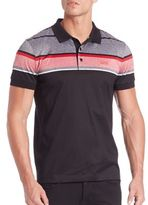 HUGO BOSS Slim-Fit Striped Polo