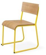 Church's Side Chair Gus* Modern Frame Finish: White Powder Coat, Seat Finish: Oak Natural