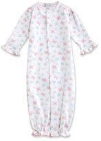 Kissy Kissy Owfully Cute Printed Pima Convertible Sleep Gown, Pink, Size Newborn-Small