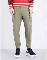 Alexander Mcqueen Tapered Cotton-jersey Jogging Bottoms