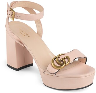 Gucci GG Ankle Strap Platform Sandal