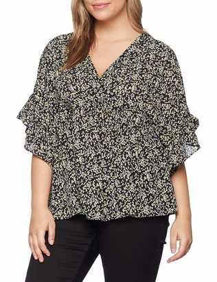 LOST INK PLUS Women's Smock TOP in Ditsy Floral T-Shirt