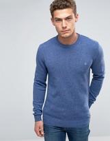Jack Wills Merino Sweater In Donegal Cornflower