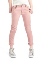 Gap Stretch pink straight crop jeans