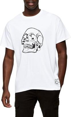 Topman Skull Sketch Graphic Tee