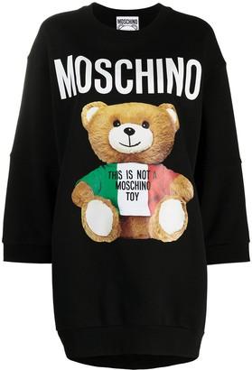 Moschino Teddy-Print Sweatshirt Dress