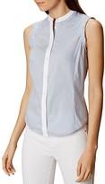 Karen Millen Lace-Inset Sleeveless Shirt