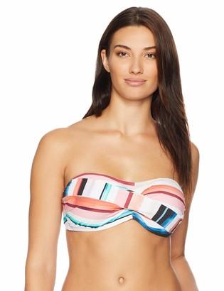 La Blanca Women's Delux Bra Cup Bandeau Hipster Bikini Swimsuit Top