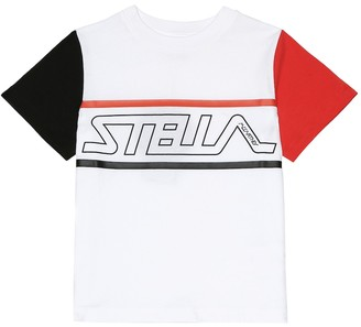 Stella McCartney Kids Logo cotton T-shirt