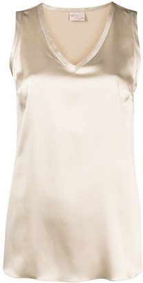 Brunello Cucinelli V-neck silk vest top