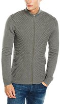 Wrangler Men's Zip Dark Grey Mel Cardigan