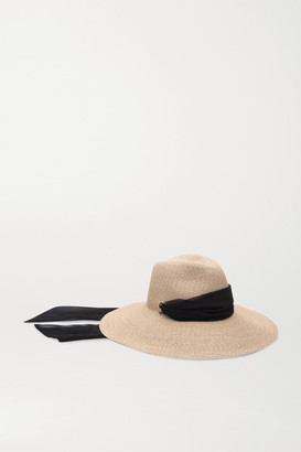 Eugenia Kim Cassidy Voile-trimmed Straw Hat - Sand