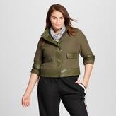 Who What Wear Women's Plus Size Textured Moto Jacket